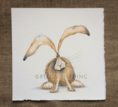Coloured pencil hare