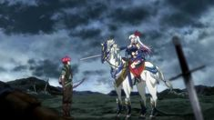 A screenshot of Tigre & Elen mano y mano from Lord Marksman & Vanadis Episode Medieval World, Medieval Fantasy, Tears To Tiara, Crawling City, Lord Marksman And Vanadis, The Twelve Kingdoms, Spice And Wolf, Mysterious Girl, Anime Recommendations