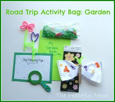 Road Trip Activity Bag--Garden Theme--The Peaceful Mom