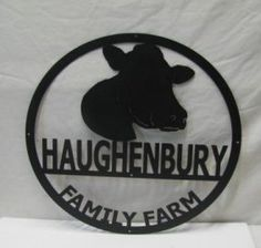 Metal Farm Sign with Goat, Cow, Sheep, Pig or Horse