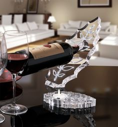 Crystal Infinity wine holder and Leaf Tealight made with Swarovski elements Light Effect, Plexus Products, Tea Lights, Red Wine, Alcoholic Drinks, Swarovski, Crystals, Glass, Infinity