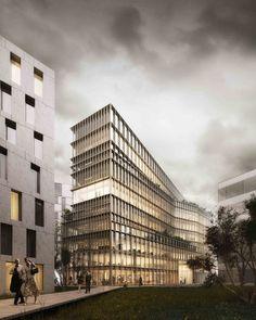 Kaufman & Broad Office Building Winning Proposal / Studioninedots,© A2STUDIO