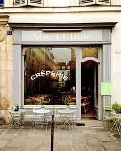 time for a crepe NoctuDINE 57 Rue de Turenne 75003 Paris Provence, Paris 3, Paris Cafe, Cafe Bistro, Belle Villa, Cafe Shop, Shop Fronts, Cafe Restaurant, Boutiques