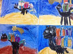 """Collage """"El camello de Melchor"""". Alumnos de 5 años. Colegio Nuestra Sra. Santa María. Madrid."""