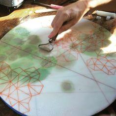 Scraping away the excess wax on a salt study painting. Ap Studio Art, Encaustic Painting, Process Art, Art Studios, Art Tutorials, Insta Art, New Art, Salt, Study