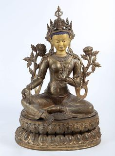 Large Nepalese Bronze Figure of Tara, 19th Century