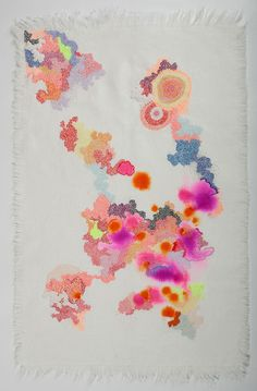Sabatina Leccia combines embroidery, staining, drawing and...