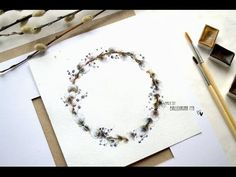 Easter wreath / watercolor  part #1 - YouTube