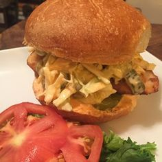 Fried Chicken Sandwich with Spicy Slaw & Mayo   Moore's Marinade