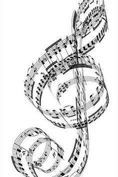 A Treble Clef Made from Beethoven's Piano Music Premium Photographic Print by Ian McKinnell at Art.com