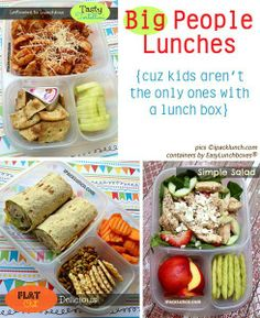 Yummy Lunch Ideas - easylunchboxes - I like the portioning too. Too much left to error with baggies!!.