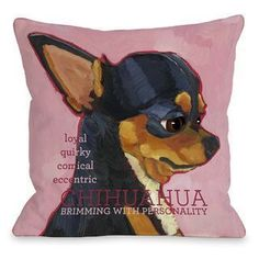 Chihuahua Throw Pillow | Overstock.com Shopping - Great Deals on Throw Pillows
