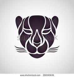 Cheetah logo vector - stock vector
