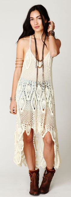 Free People crochet dress