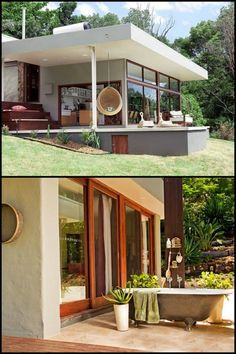 Take a tour of this beautiful, sustainable straw bale house in NSW, Australia! Take a tour of this b Sustainable Architecture, Sustainable Design, Architecture Design, Cob Building, Building A House, Building Ideas, Straw Bale Construction, Stairs Colours, Shipping Container House Plans