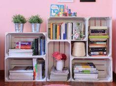 Libreria in legno - Idee fai da te in legno per organizzare con stile libri e oggetti.