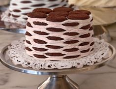 ever make an ice-box cake?  my first was ina garten's mocha one. here's another keeper--strawberry ice box cake from the magnolia bakery.  (at this time of year, you could probably leave the container out in the garage and be fine.)  great promise of summer.