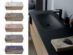 Je relooke ma salle de bain avec une table vasque en verre givré. Blanc, basalte, rose, gris, bleu galaxy ou noir, je choisis la couleur de mon lavabo et j'invente une décoration contemporaine qui me ressemble. - my lodge de Sanijura