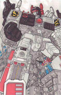 Metroplex and Optimus