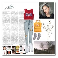 """""""Mom jeans"""" by silly-stegosaurus ❤ liked on Polyvore featuring Topshop, Keds, Fjällräven, ASOS, MAC Cosmetics, Laura Mercier, Benefit, NYX, Kat Von D and Smashbox"""