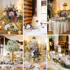 Beautiful gold and lace details are featured in this May 2016 glamorous wedding we designed for a couple at Starved Rock Lodge in Illinois. Photography courtesy of Rachael Osborn Photography.