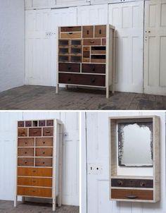 Stylish Salvage Sets: Unique Upcycled Furniture Designs | Designs & Ideas on Dornob on we heart it / visual bookmark #17729327