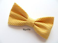 Marigold, Yellow Orange Diagonally Striped Bow Tie For Men/Teen, Boys in Designer Cotton Marigold Wedding, Tie Crafts, Bow Tie Wedding, Cute Bows, Orange, Yellow, Hair Bows, Cotton, Accessories