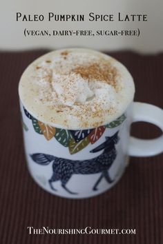 Paleo Pumpkin Spice Latte (vegan too!), made with natural sweeteners. My favorite version so far!