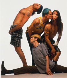 "Red Hot Chilli Peppers - Anthony Kiedis, Michael ""Flea"" Balzary, Chad Smith, John Frusciante."