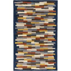 Hand-tufted Amiyah Geometric Wool Rug (8' x 11') (
