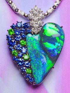 Style Black Opal pendant