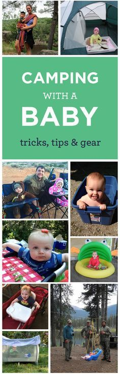 Camping with a baby is an adventure! Click through for a full packing list and tips on the best gear, plus some hacks that make camping out with a baby totally doable.