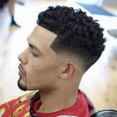 30 ultra cool high fade haircuts for men 27 fade haircuts for men 25 best high top fade haircuts to … Black Men Haircuts, Black Men Hairstyles, Curled Hairstyles, Hairstyles Haircuts, Medium Hairstyle, Trendy Hairstyles, Curling Thick Hair, Hair And Beard Styles, Hair Styles
