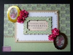Karen Foy - Card using the Downton Abbey Paper Kit
