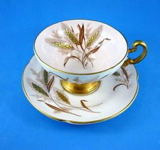 Gold Wheat on Light Pink Old Royal Tea Cup and Saucer Set