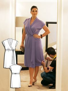 Hair and Makeup: 9 Plus Size Sewing Patterns for Women - DIY Fashion Sewing Plus Size Sewing Patterns, Dress Sewing Patterns, Clothing Patterns, Diy Fashion No Sew, Fashion Sewing, Costura Plus Size, Costura Fashion, Sew Your Own Clothes, Sewing Clothes Women