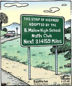 Pi Day Humor: Happy Pi Day with a series of comics! Funny Cartoons about Pi for Pi Day! Funny Math Jokes, Math Puns, Math Memes, Nerd Jokes, Math Humor, Pi Jokes, Grammar Jokes, Math Quotes, Science Jokes