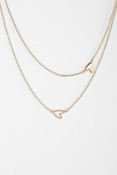 Heart It Double-Layer Necklace #urbanoutfitters