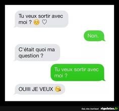 tu veux sortir avec moi? - RIGOLOTES.fr How To Speak French, Minions, Fails, Texts, Funny Jokes, Haha, Love Quotes, Messages, How To Plan