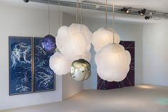 Glithero BlueWare behind  Jeremy Wintrebert | Clouds | 2015 Porto Cervo   http://www.galleryfumi.com/Artists/Jeremy-Wintrebert/