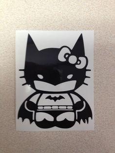 Hello Kitty Batman Vinyl Sticker Decal Choose Size and Color Comic JDM | eBay