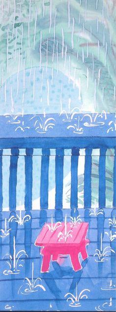ALONGTIMEALONE: immafuster: David Hockney - Saturday Rain ll, 2003