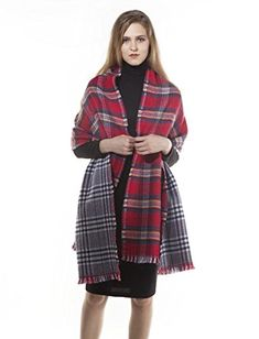 Winter Scarf Soft Lattice Scarf Women's Fashion Long Shawl Large Blanket KAISIN - ►Multicolor Plaid Modeling, Thick, Warm,and Fashion, Soft and Close to the Skin. A simple yet efficient way to protect your face and neck from sun, wind and sand.Works well as alternative winter headwear, particularly in areas with snow and strong winds. ►Fashionable and stylish. ov...