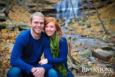 Spencer Falls :: Engagement Photos :: Riverstone Photography