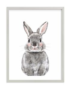 """Baby Animal Rabbit"" print by Minted 