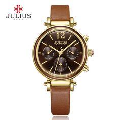 Julius Brand Creative Watches Women Fashion Chronos Quartz Watch Retro Vintage Montre Femme Auto Day Date Female Clock JA-958 #womenwatchjulius