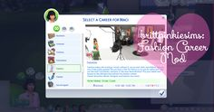 Sims 4 CC's - The Best: Fashion Career Mod by Brittpinkiesims