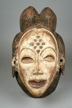 Mask (Mukudj) | Punu peoples, Gabon | Wood & pigment  | The Met