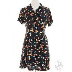 Vintage Clothing | Short Dress Navy With A Revere Front