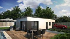 Maison contemporaine 4 chambres avec mezzanine. 93 m² habitable ...